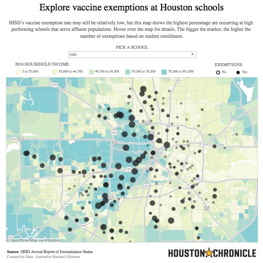 Vaccine exemptions on the rise among Texas students - Houston Chronicle